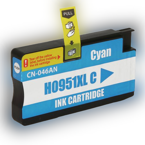 CARTUCHO COMPATÍVE Hp 951 951xl Cn-046al Cyan - Impressoras Hp 8100 8610 8620 251dw 8600w Compatível 20ml