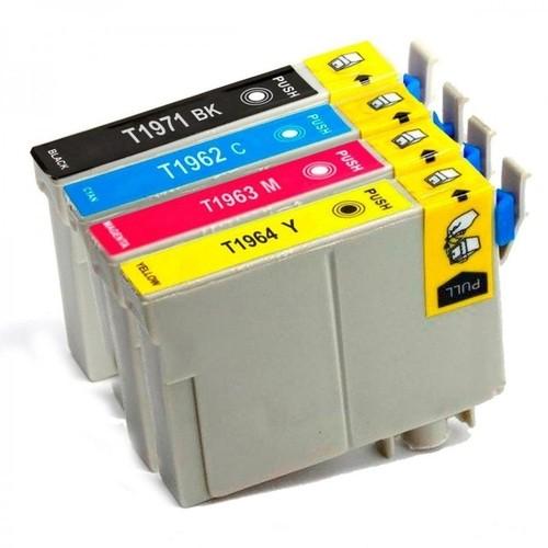 Kit 4 Cartucho de Tinta Compatível Preto, Amarelo, Magenta e Ciano Epson Xp101/Xp201/Xp214