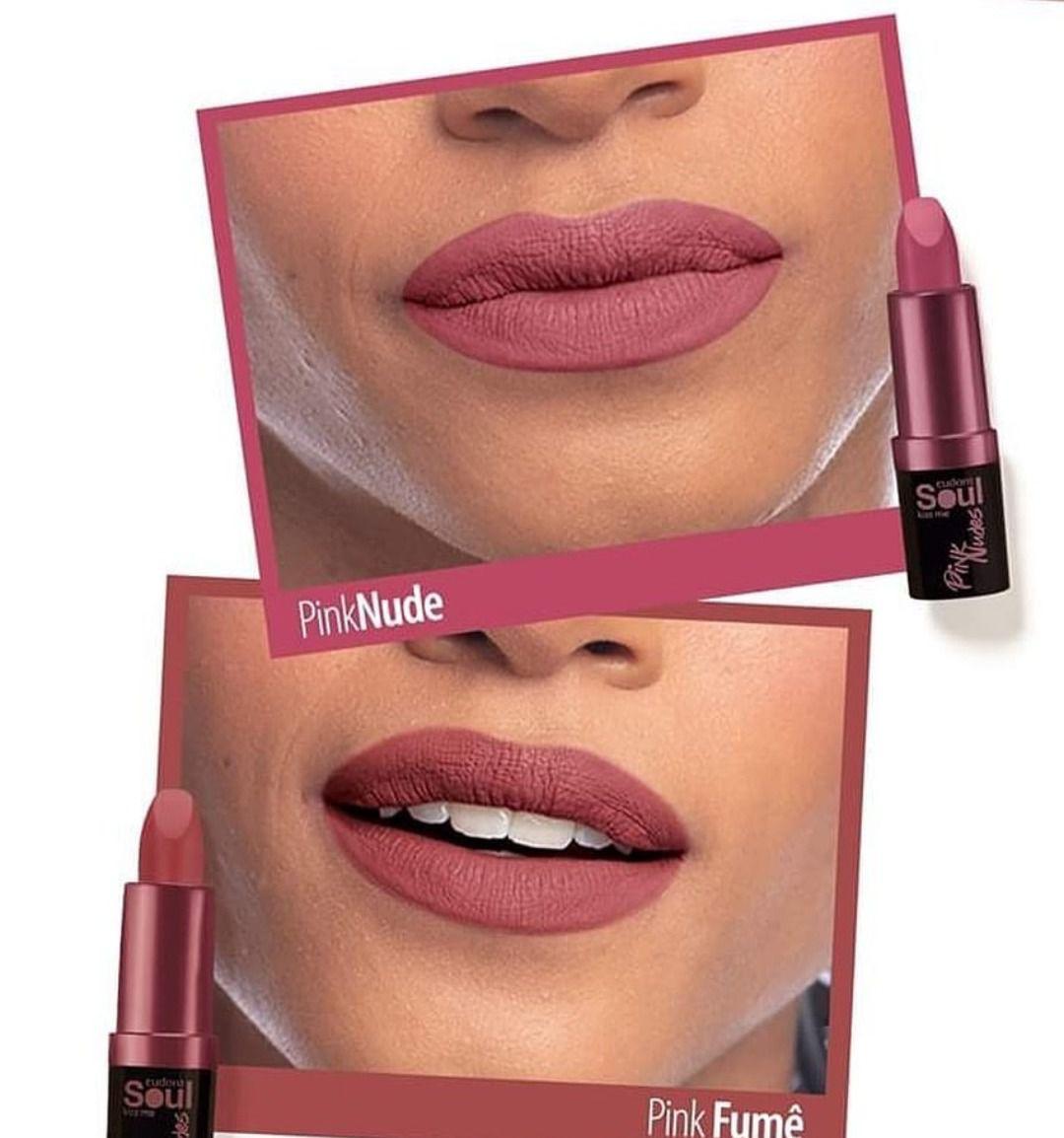 Batom Matte Soul Kiss Me Pink Nude