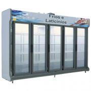 Expositor de Frios e Laticínios classic 3,00 m 5 portas Polo Frio