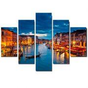 Quadro Painel Mosaico Decorativo 5 Partes Veneza Italia