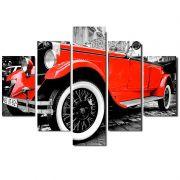 Quadro Painel Mosaico Decorativo 5 Partes Vintage Praga Car