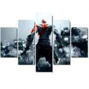 Quadro Painel Mosaico Decorativo  Partes God of War Kratos