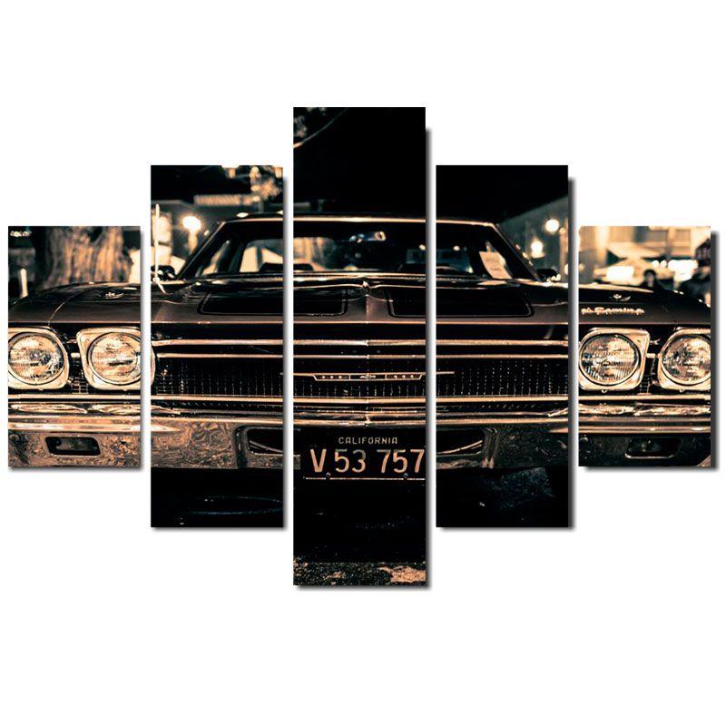 Quadro Painel Mosaico Decorativo 5 Partes Impala
