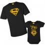 Kit Body e Camiseta - Pai você é meu Superman
