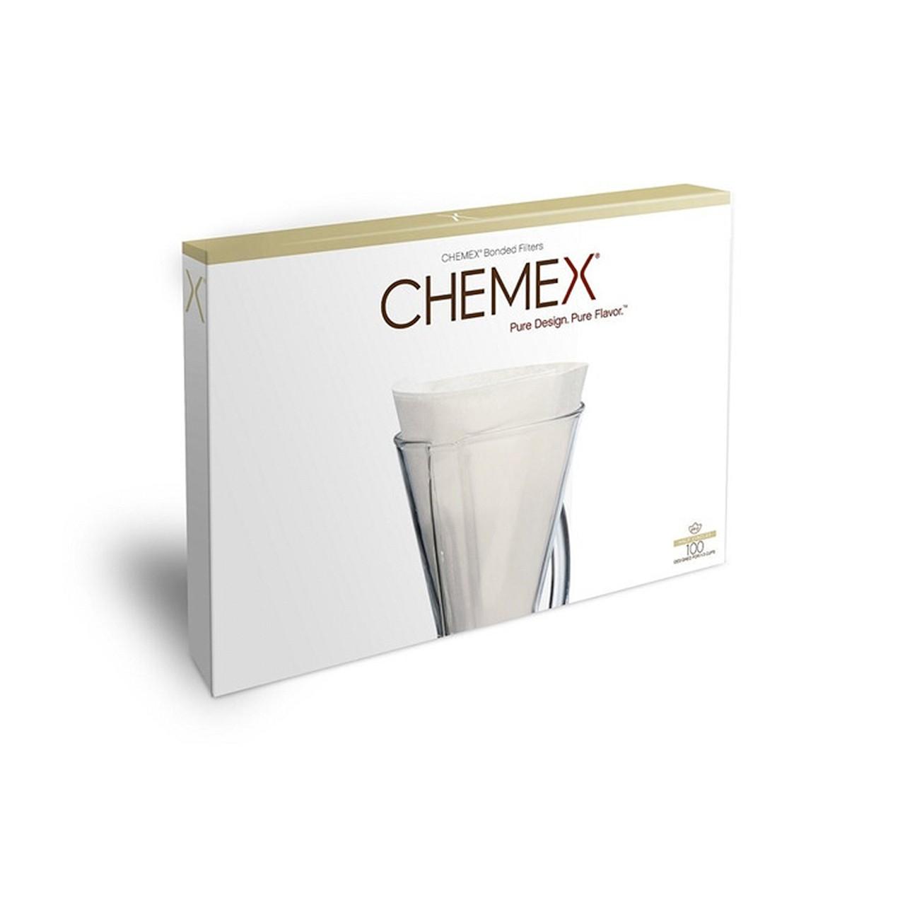 Filtro meia lua branco - Chemex - 100un