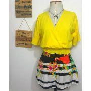 Blusa lastex amarela
