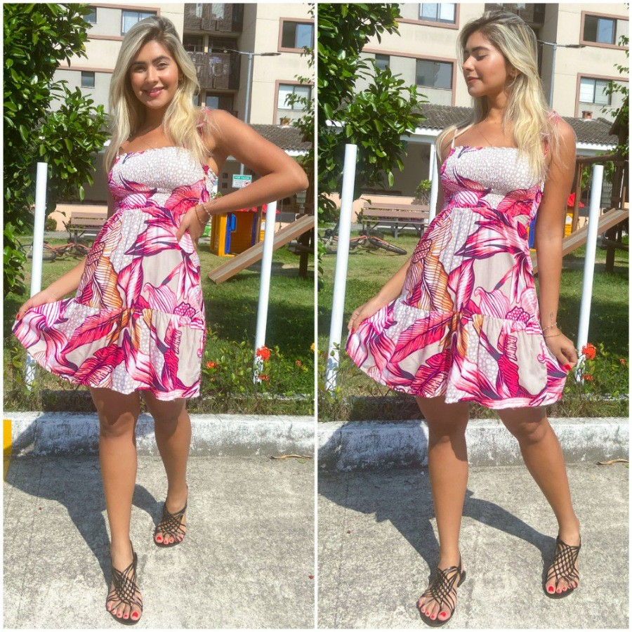 Vestido lastex Luisa