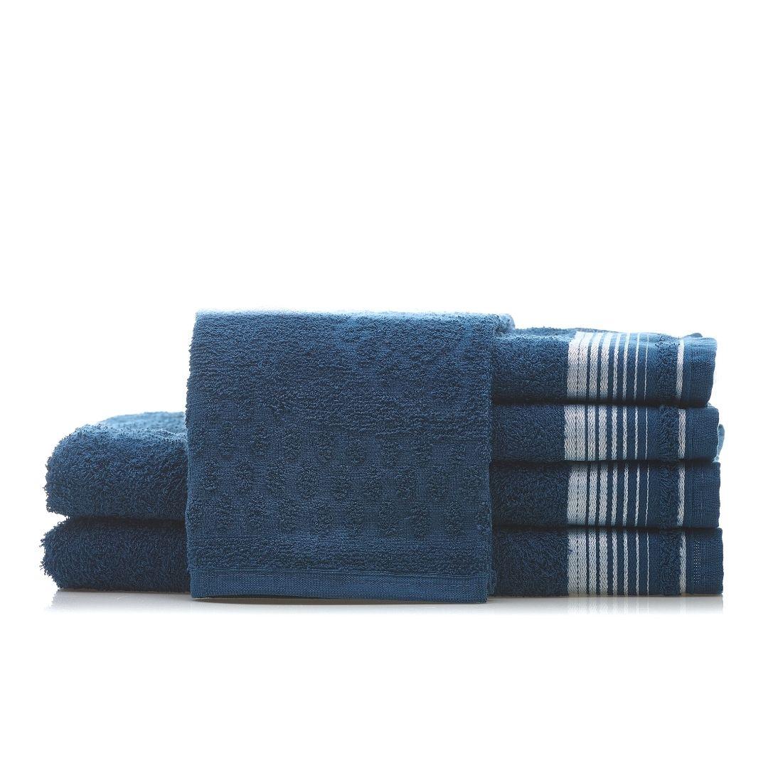 1 Jogo de Toalha  2 Banho + 2 Rosto + 1 Piso Azul