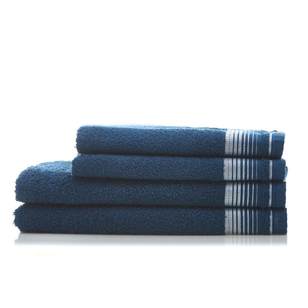 1 Jogo de Toalha  2 Banho 2 Rosto Azul