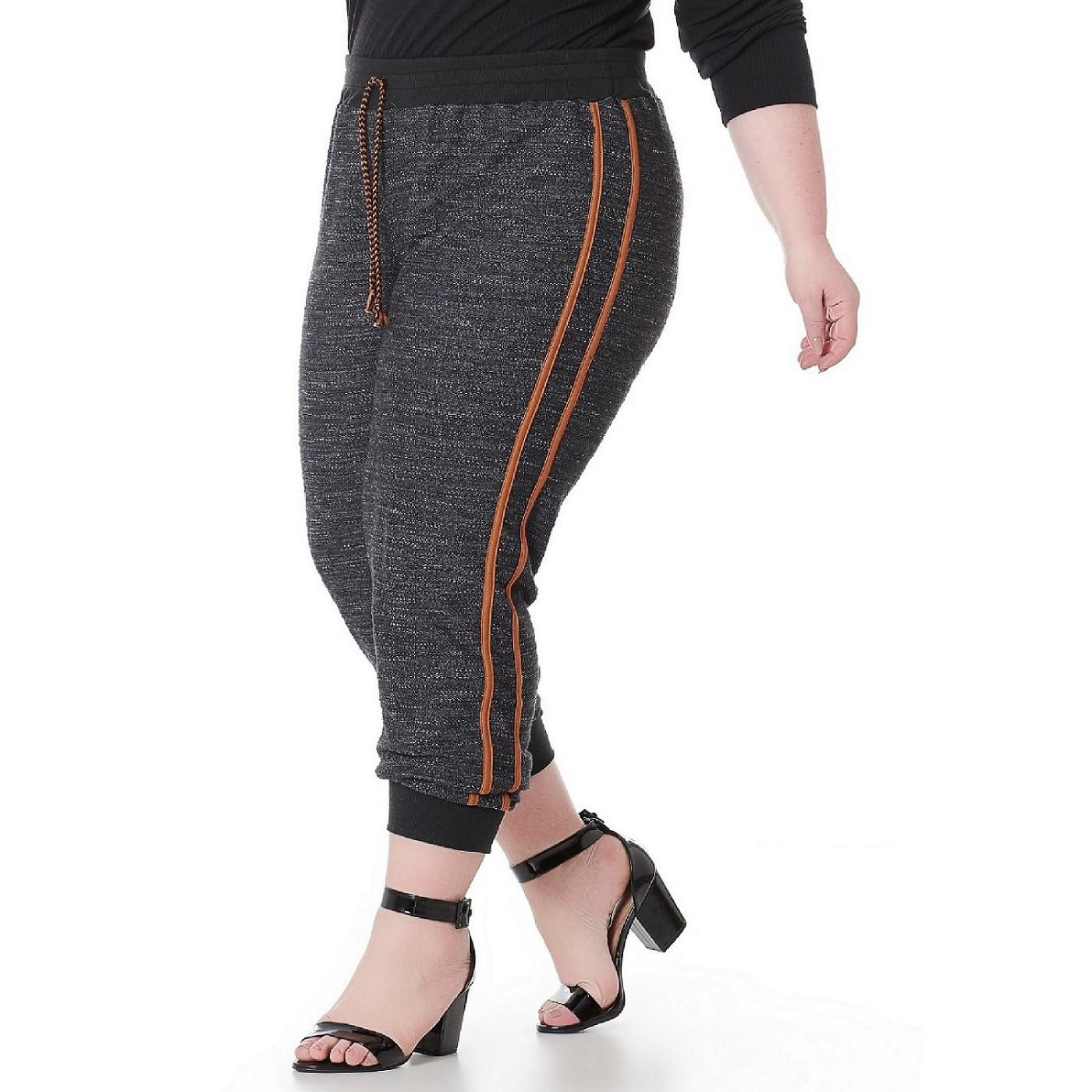 Calça Plus Size Jogger Feminina 101533
