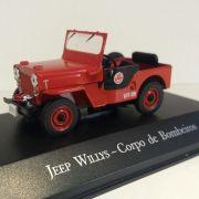 Miniatura Jeep Willys Bombeiros - Veículos de Serviço - escala 1/43 -  10527