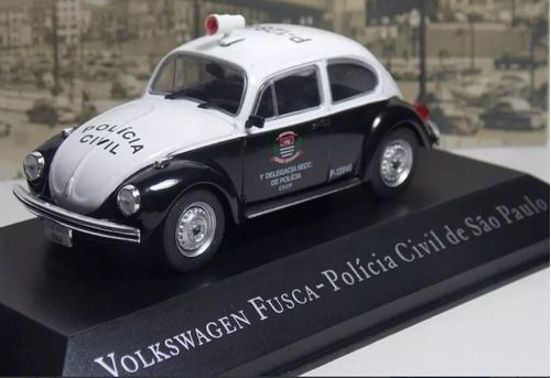 Miniatura Vw Fusca Pol Civil Sp-veículos Serviço-1/43- 10647