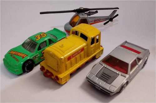 Miniatura Kit 4 Minis Matchbox Antigas - Escala 1/64 - 9111
