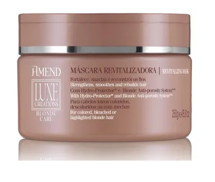 Máscara Amend Luxe Creations Blonde Care - 250g - 50037