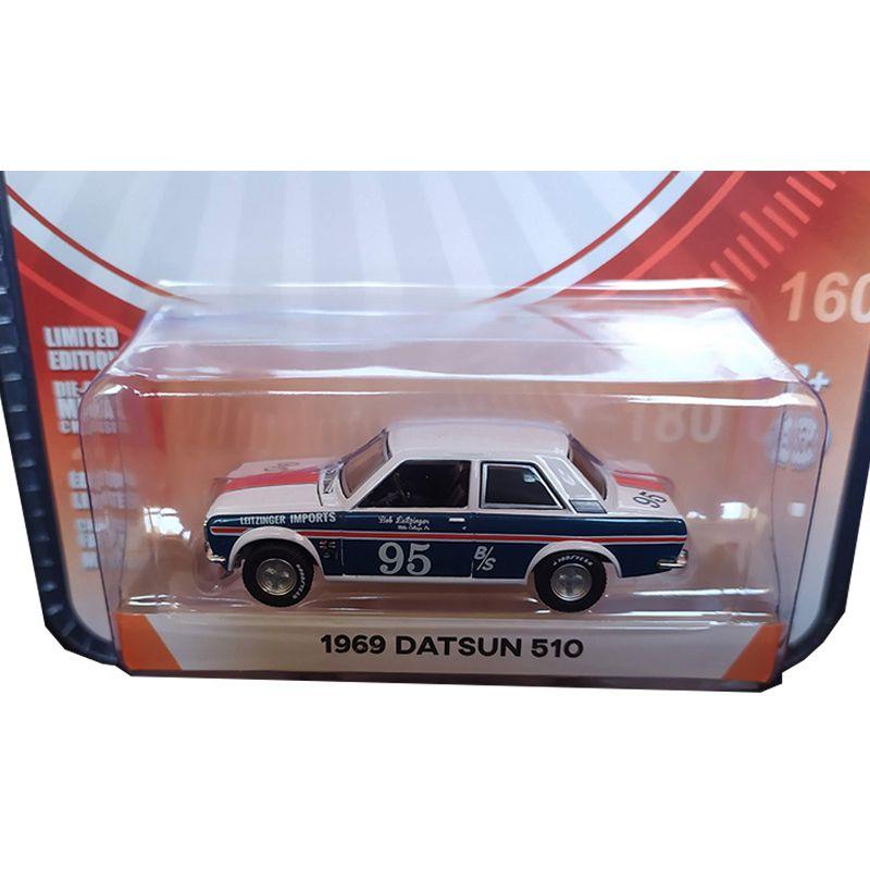 Miniatura 1969 Datsun 510 - Greenlight - escala 1/64 - 10471