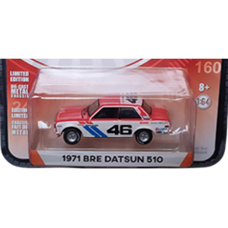 Miniatura 1971 Bre Datsun 510 - Greenlight - escala 1/64 - 10425