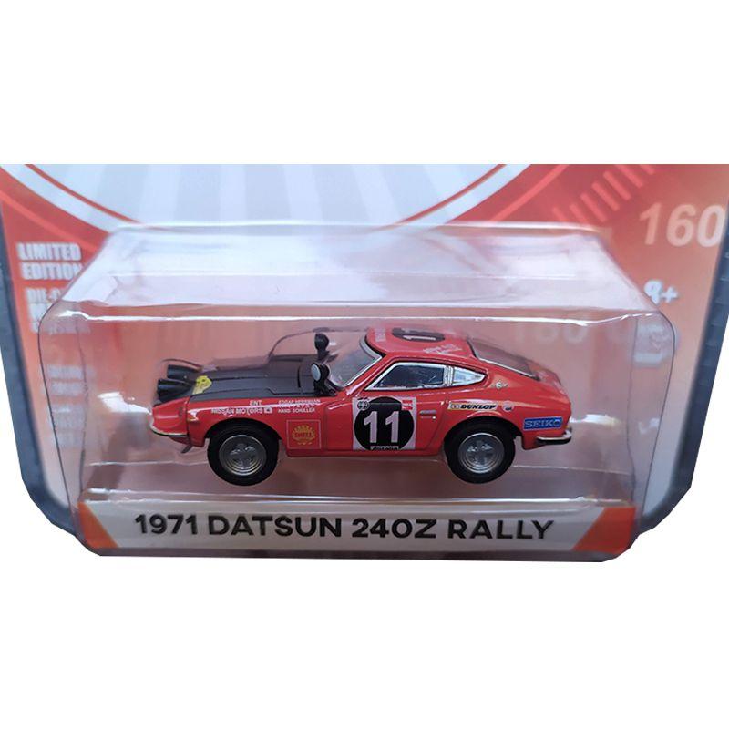 Miniatura 1971 Datsun 240Z Rally - Greenlight - escala 1/64 - 10426