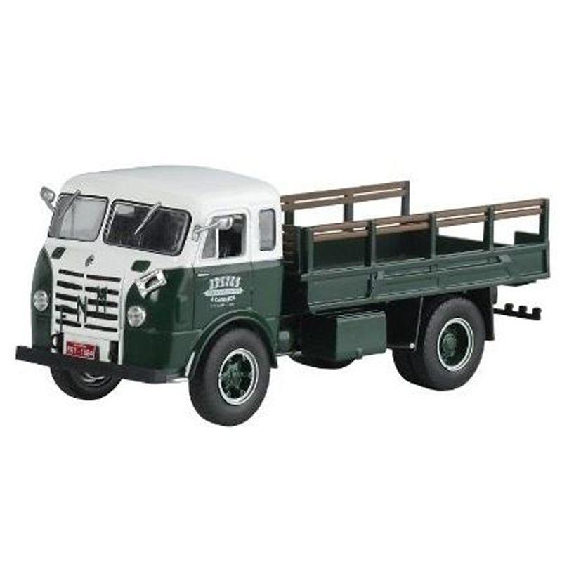 Miniatura Caminhão FNM D9500 1957 cabine Brasinca - Deagostini - escala 1/43- 10684