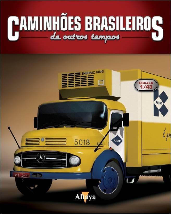 Miniatura Caminhão Mercedes Benz LP331 Casas Bahia - Deagostini - escala 1/43- 10683
