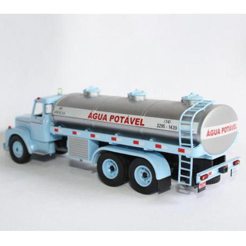 Miniatura Caminhão Scania LS85 jacaré transporte água - Deagostini - escala 1/43- 10685