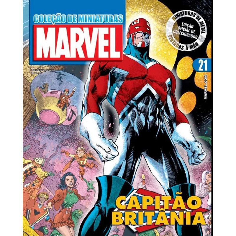 Miniatura Capitão Britânia - Marvel - Eaglemoss - Escala 1/21 - 10690