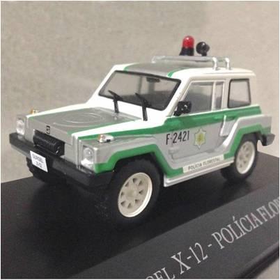 Miniatura Gurgel X12 TR Policia Florestal - veículo de Serviço - escala 1/43 - 10687