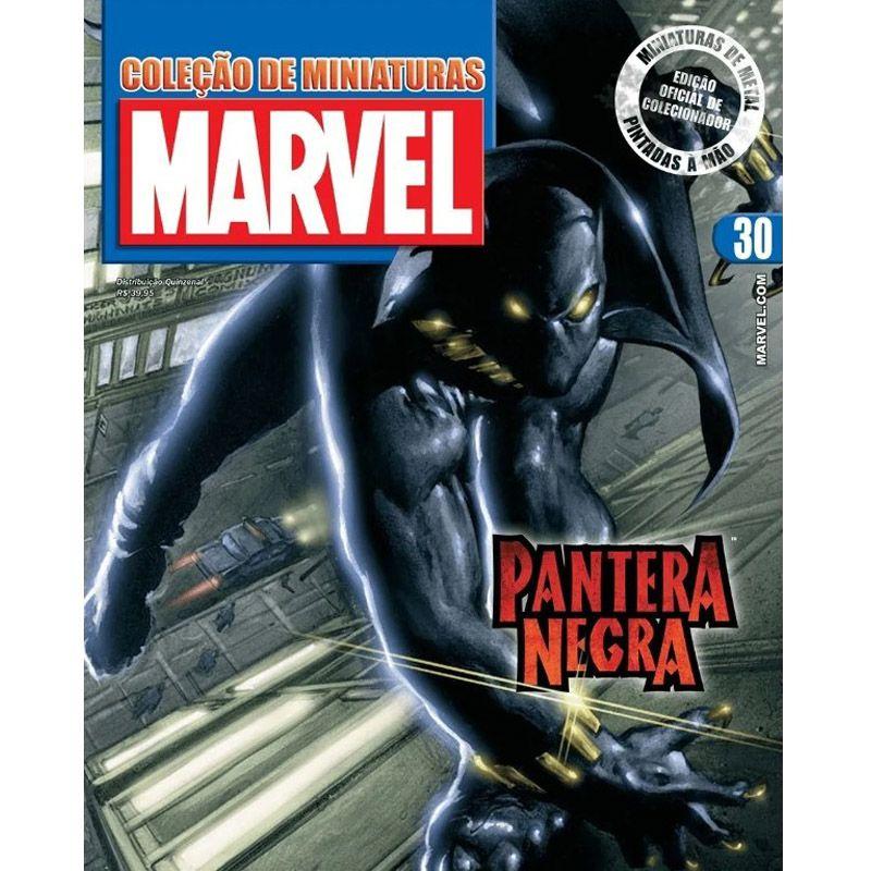 Miniatura Pantera Negra - Marvel - Eaglemoss - Escala 1/21 - 10696