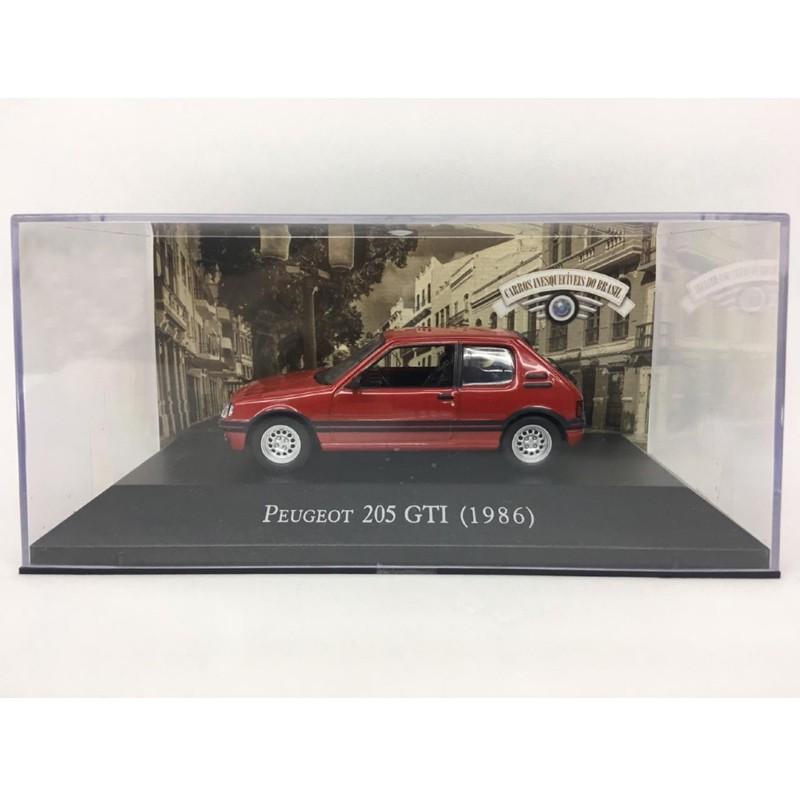 Miniatura Peugeot 205 GTi 1986 - Deagostini - escala 1/43 - 9665