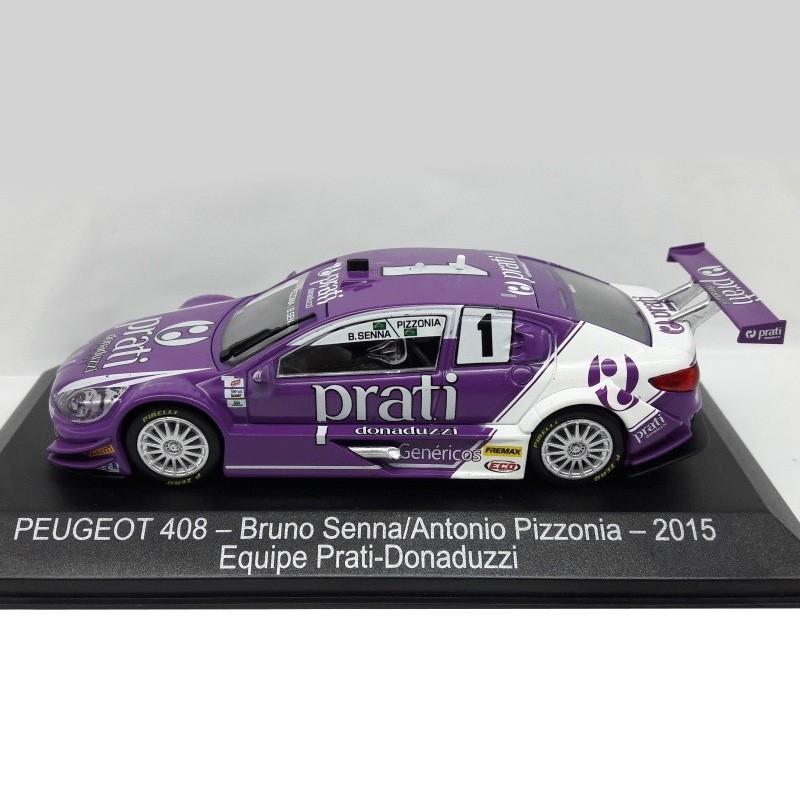 Miniatura Peugeot 408 #1 - Antonio Pizzonia - Prati - Escala 1/43 - 10666