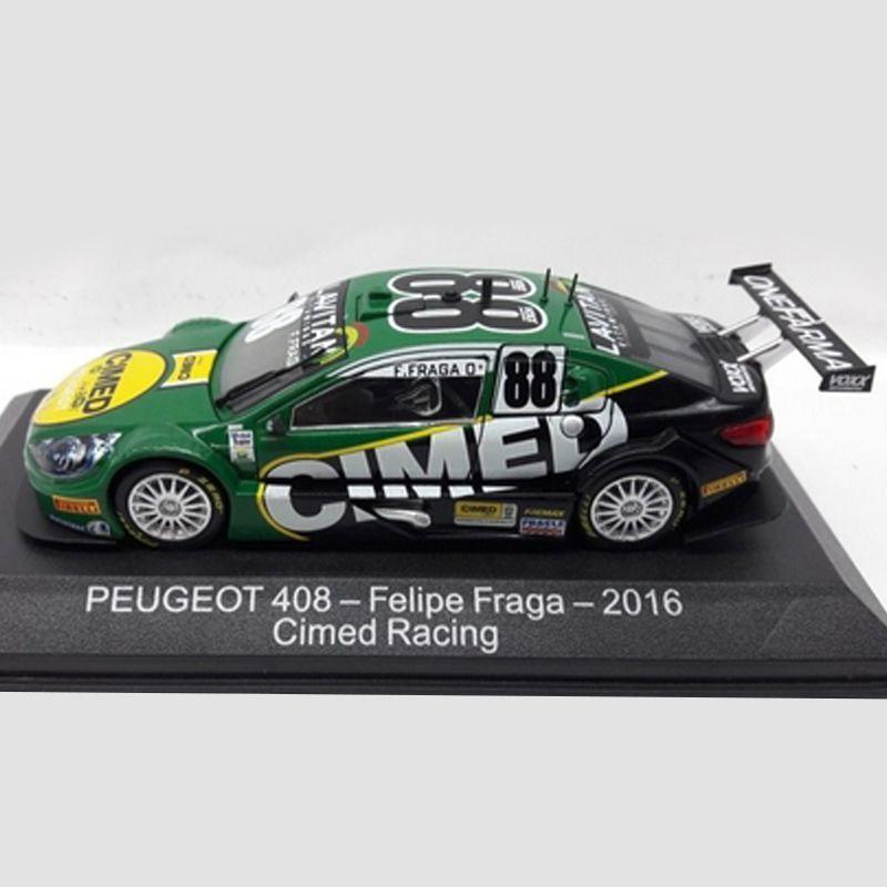 Miniatura Peugeot 408 2016 #88 - Felipe Fraga - Cimed - Escala 1/43 - 10667