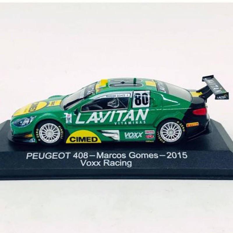Miniatura Peugeot 408 #80 - Marcos Gomes - Lavitan - Escala 1/43 - 10719