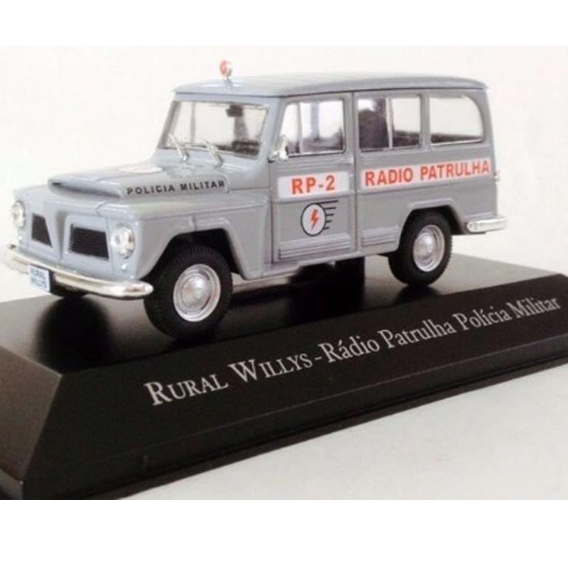 Miniatura Rural Willys Radio Patrulha - veículo Serviço - escala 1/43 - 10648