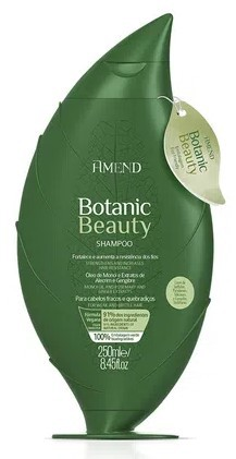 Shampoo Amend Botanic Beauty Óleo de Monói e Extratos de Alecrim e Gengibre - 250ml - 50047
