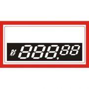 Etiquetas Personalizadas de PVC  70 Mm X 37 Mm Com 50 Unidades 5 Digito Vermelho