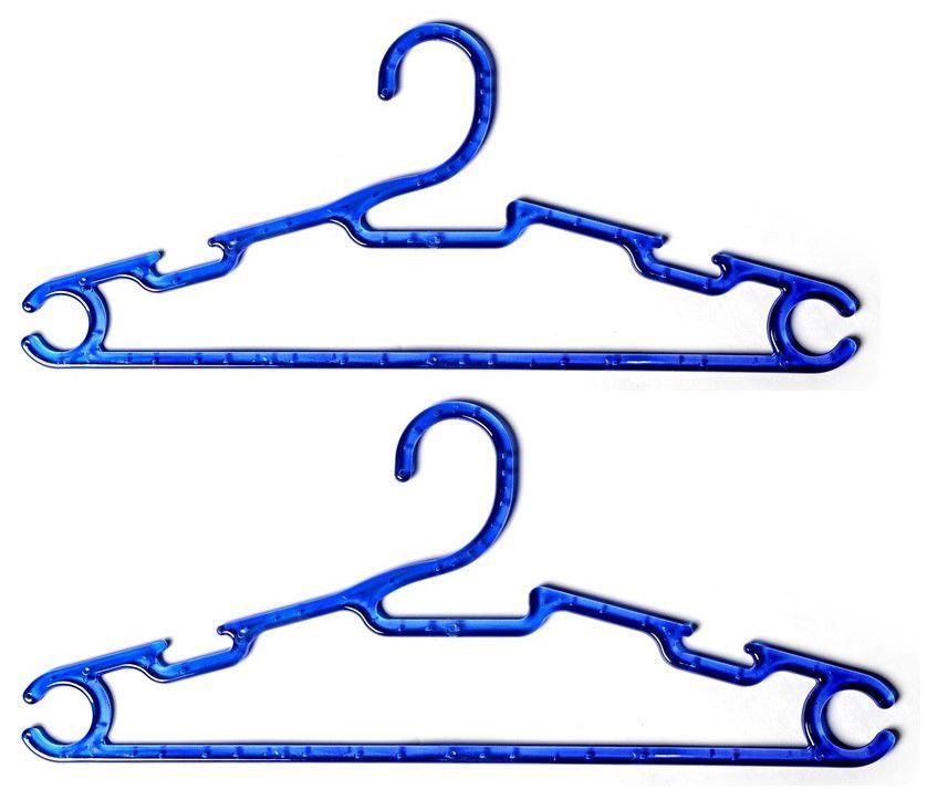 Cabide Acrílico  Cavado Azul Caixa com 100  Unidades
