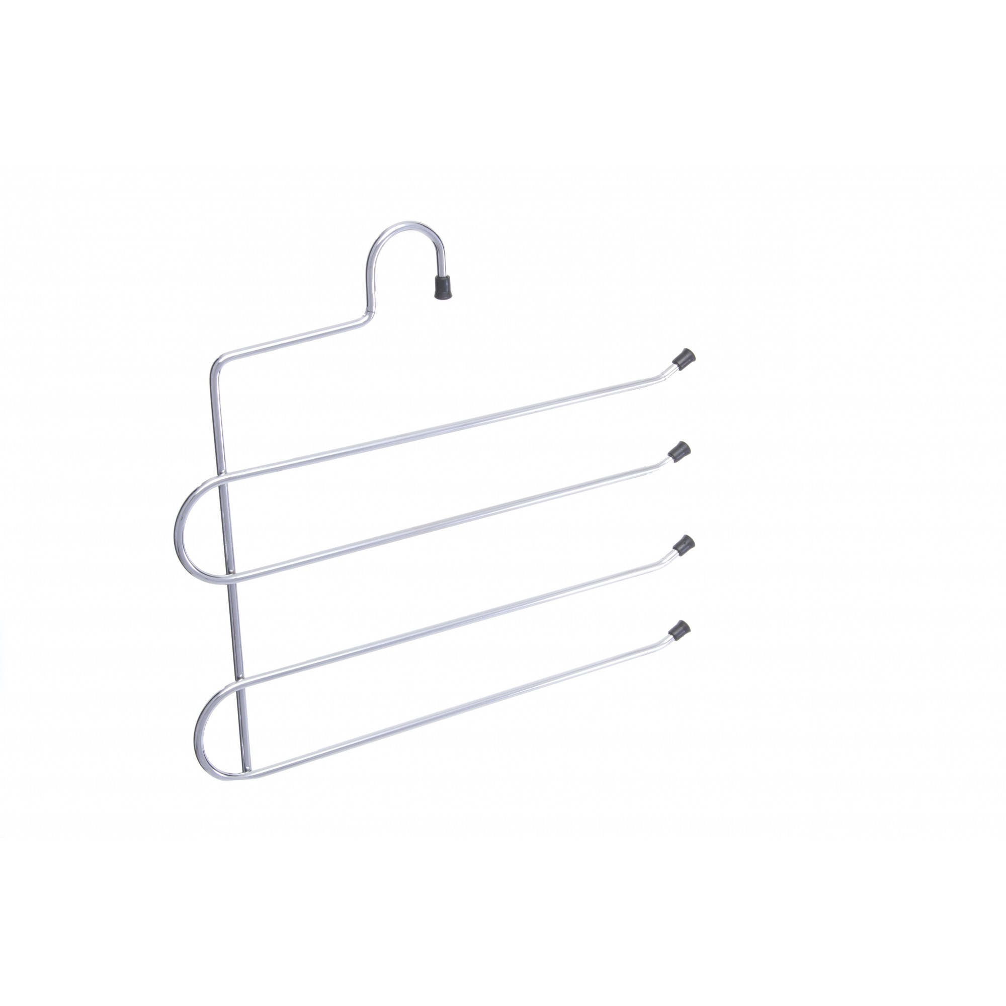 Cabide para calça cromado para 04 Calças  kit   com  02 peças