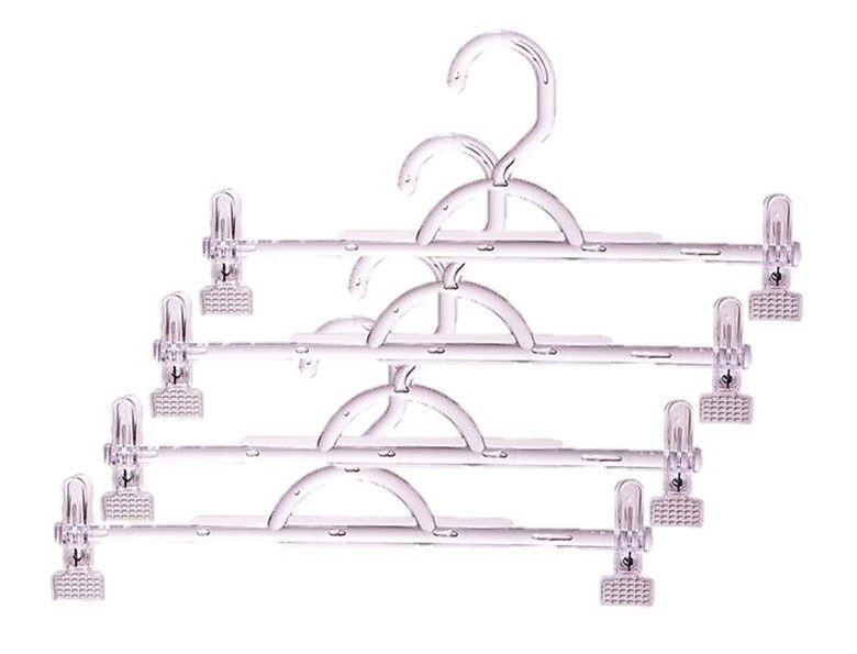 Cabides Acrílico Modelo Saia Calça + Presilhas  25 Unidades
