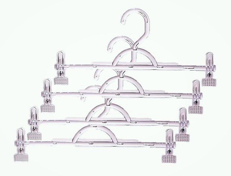 Cabides Acrílico Modelo Saia Calça + Presilhas  50  Unidades