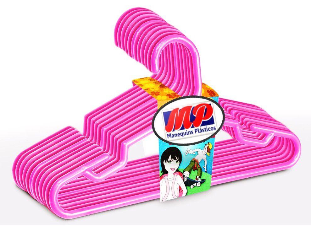 Cabides Infantil  Rosa Pink caixa com  100  Unidades 28 cm