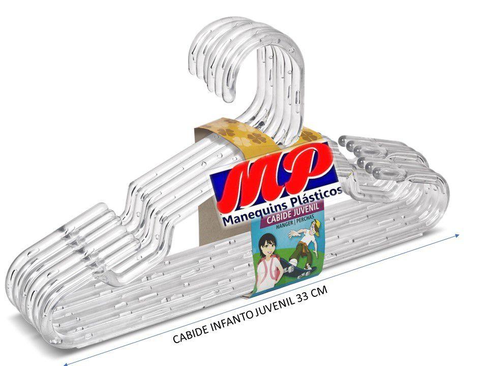 Cabides Infanto Juvenil  Acrílico  caixa com 300  Unidades 33 cm 7,5 mm