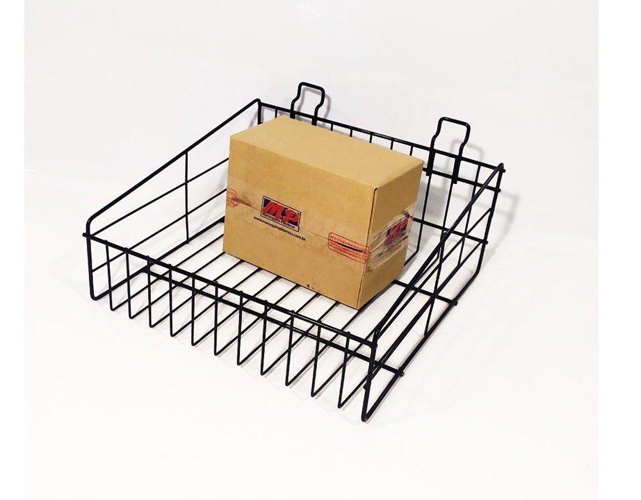 Cesto Expositor Aramado 20 x 20 P/ painel Canaletado Kit Com 5