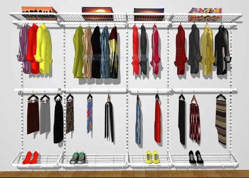 Closet Aramado Modular 310 Cm X 200 Cm X 40 Cm