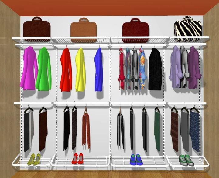 Closet Aramado Modular 3 mt Largura X 2 mt Altura X 0,40 Cm