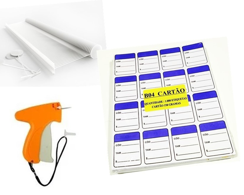 kit Aplicador  = 1000   Etiquetas Azul   + 1000  Pinos bola 40 mm  + 01  Aplicador com Agulha