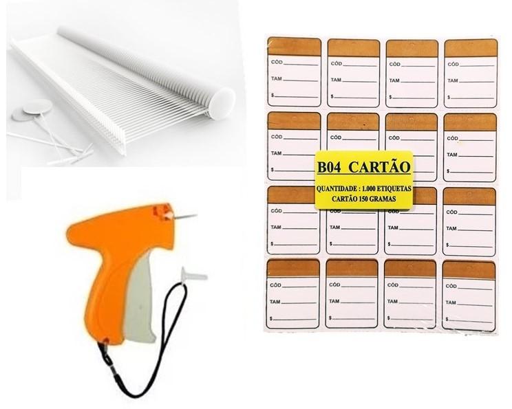 kit Aplicador  = 1000   Etiquetas Marrom   + 1000  Pinos bola 40 mm  + 01  Aplicador com Agulha