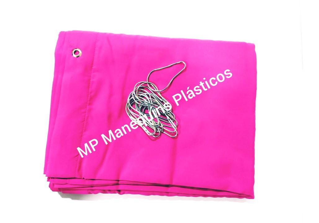 Cortina Para Provador Com Ganchos  3,20 Largura X  1,90 Altura pink