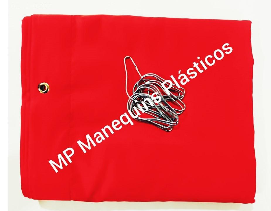 Cortina Para Provador Com Ganchos  3,20 Largura X  1,90 Altura vermelho