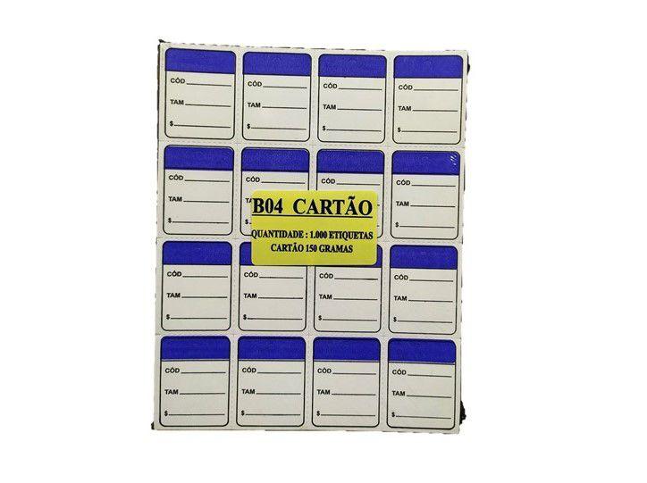 Etiqueta Para Roupas Caixa com 5000 Unidades 3 x 4 Azul