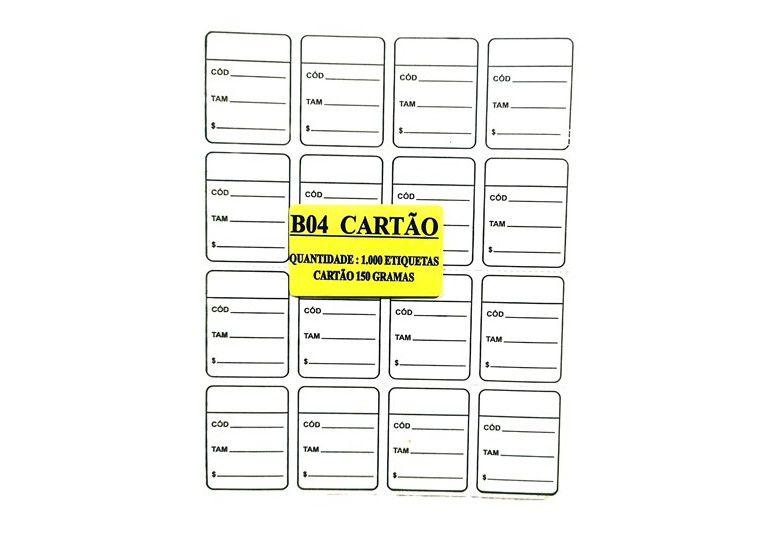 Etiqueta Para Roupas Caixa com 5000 Unidades 3 x 4  Branco